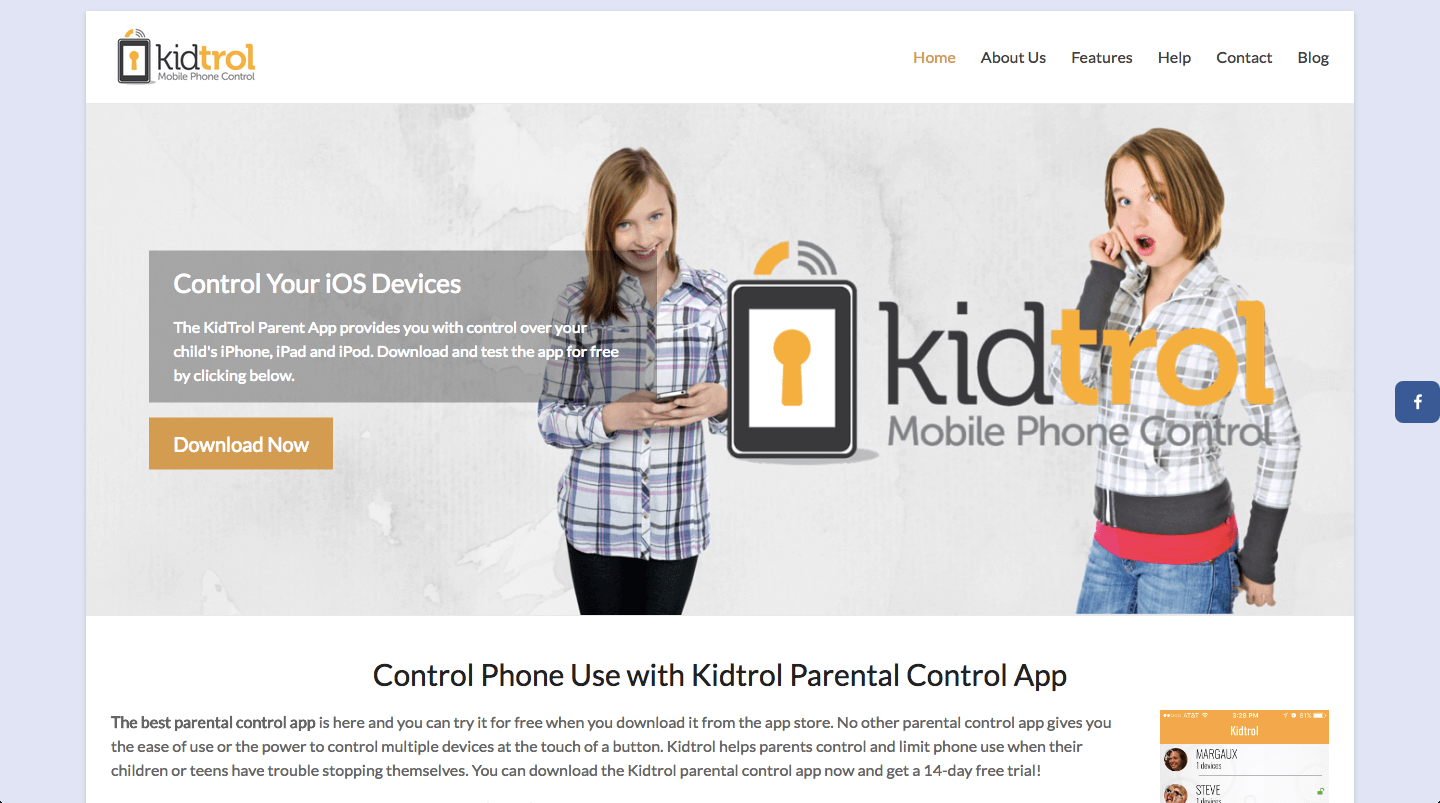 Kidtrol.com digital marketing work