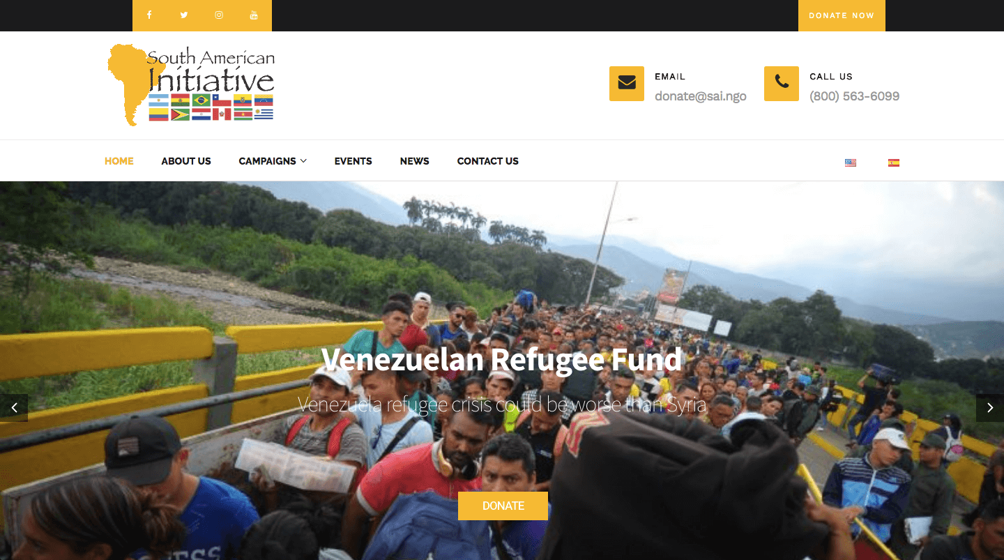 south american initiative non profit website
