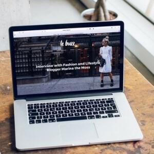 beautiful website design on a laptop